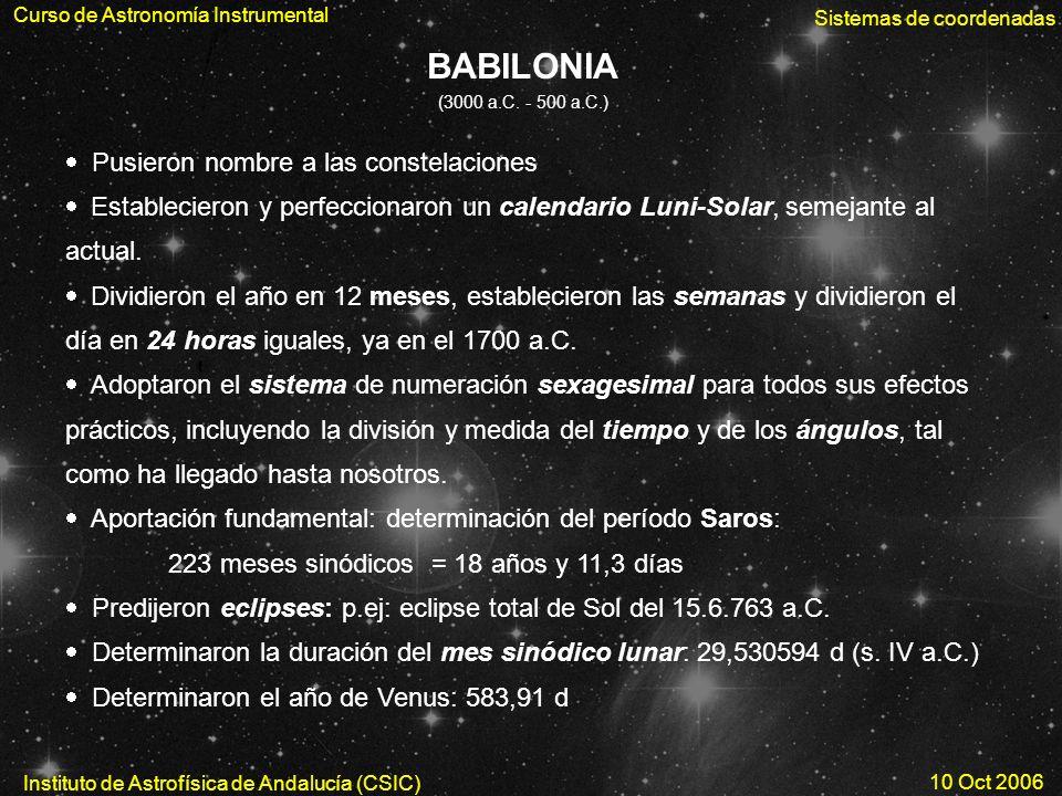 BABILONIA Pusieron nombre a las constelaciones