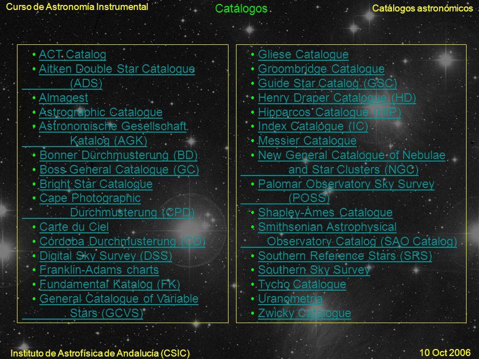 Curso de Astronomía Instrumental
