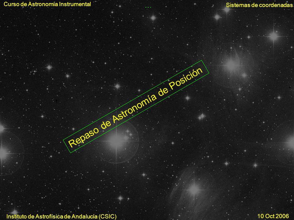 Repaso de Astronomía de Posición
