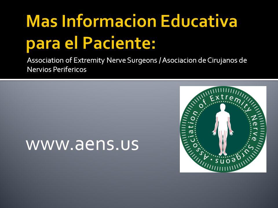 Mas Informacion Educativa para el Paciente: