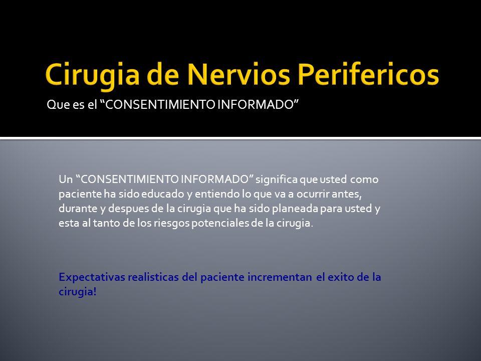 Cirugia de Nervios Perifericos