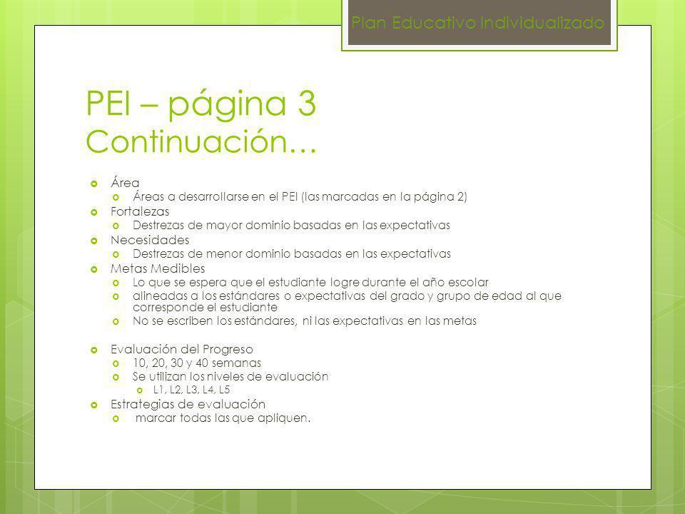 PEI – página 3 Continuación…