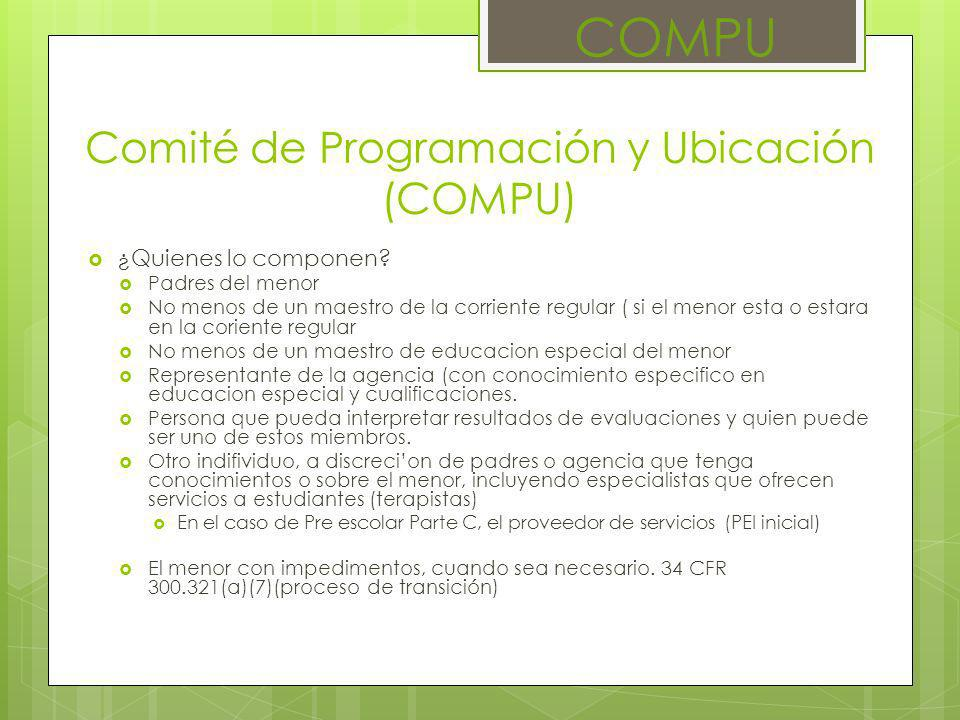 Comité de Programación y Ubicación (COMPU)
