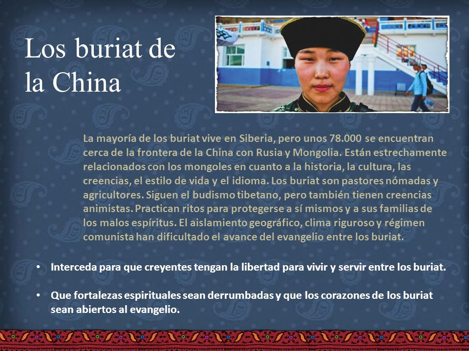 Los buriat dela China.