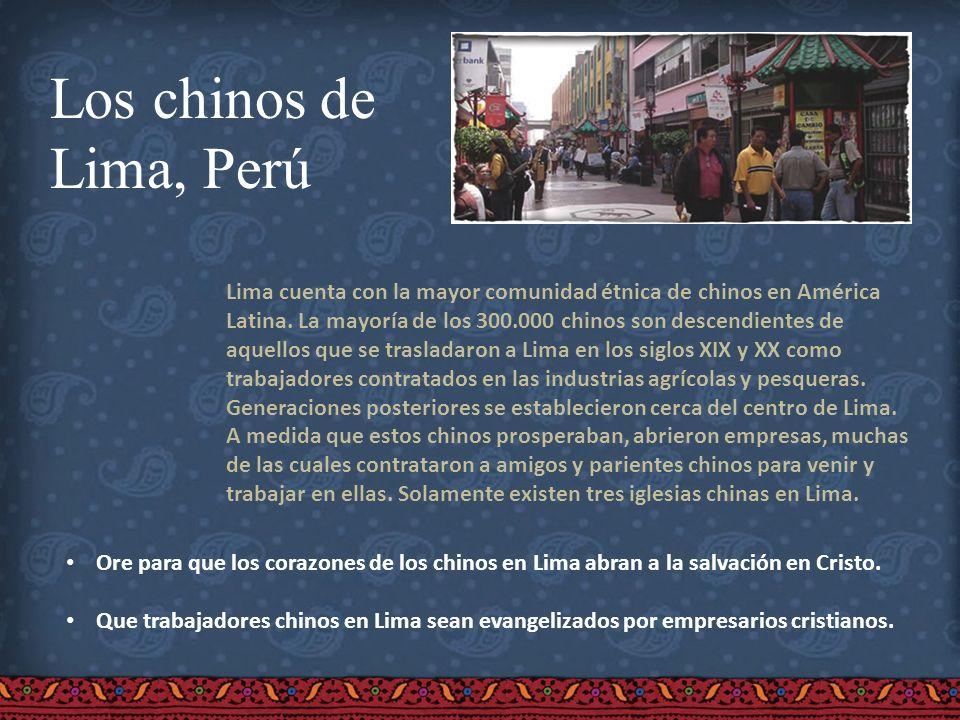 Los chinos de Lima, Perú.