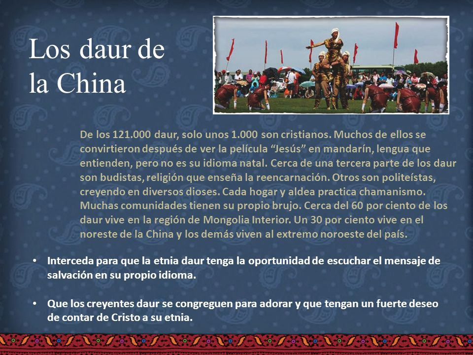 Los daur de la China.