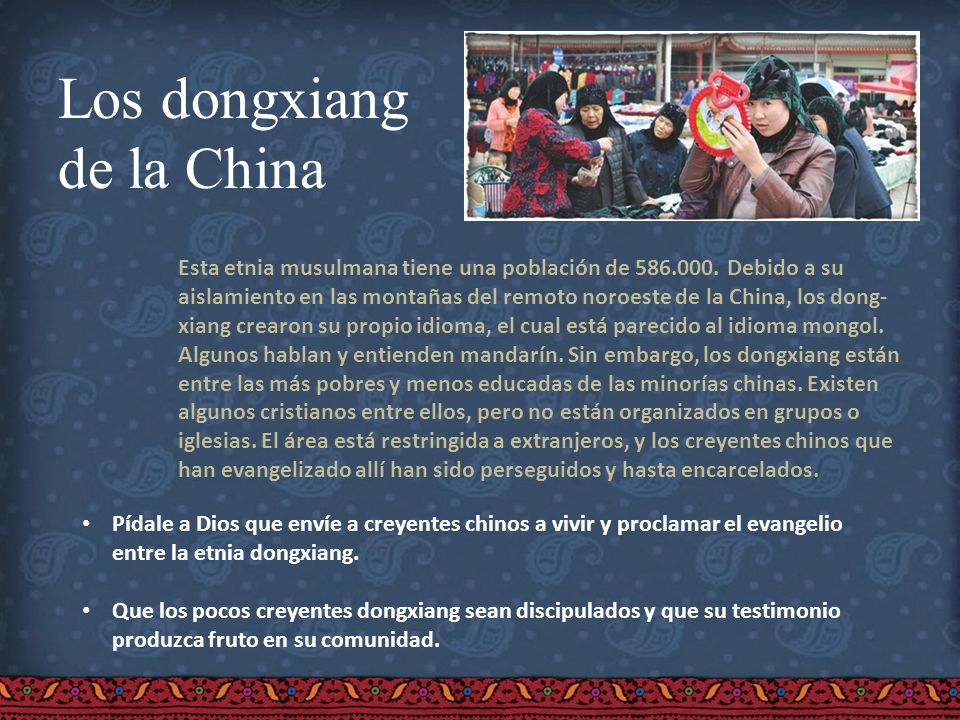Los dongxiang de la China