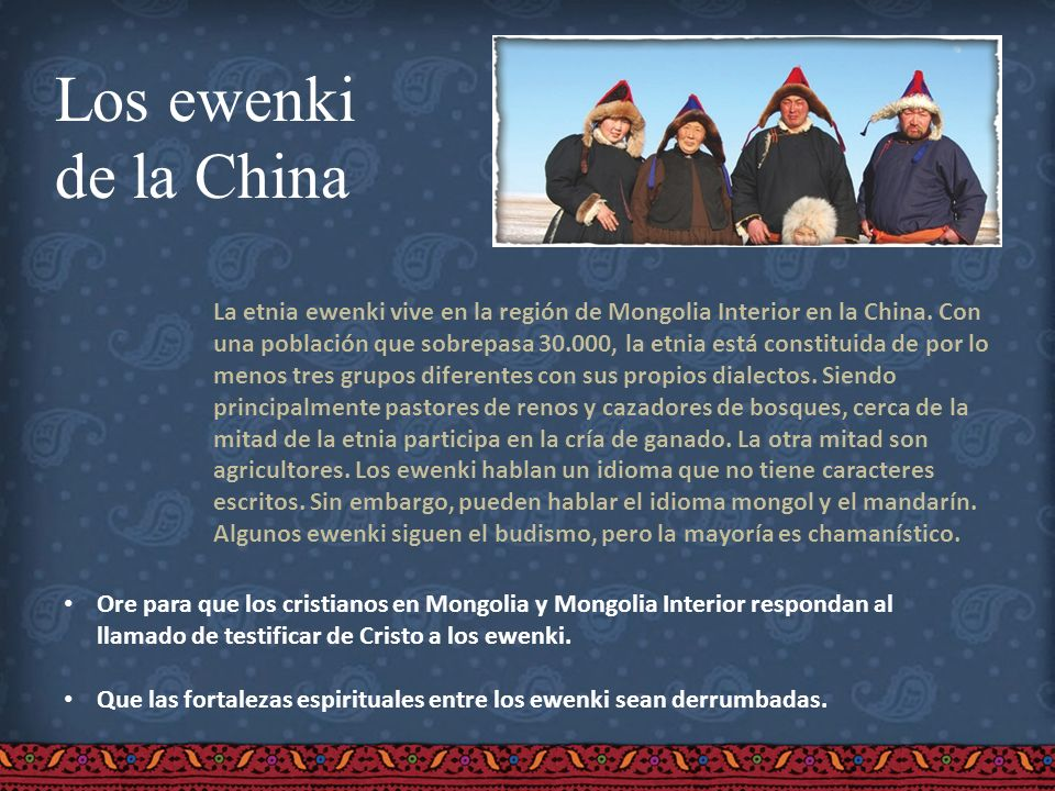 Los ewenkide la China.