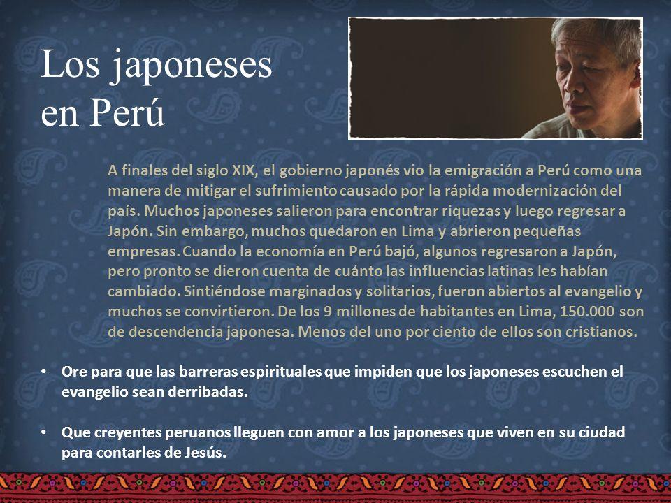 Los japoneses en Perú.