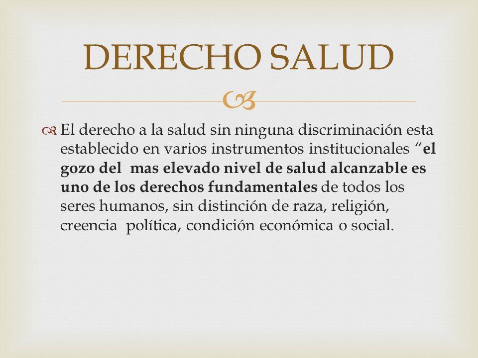 DERECHO SALUD