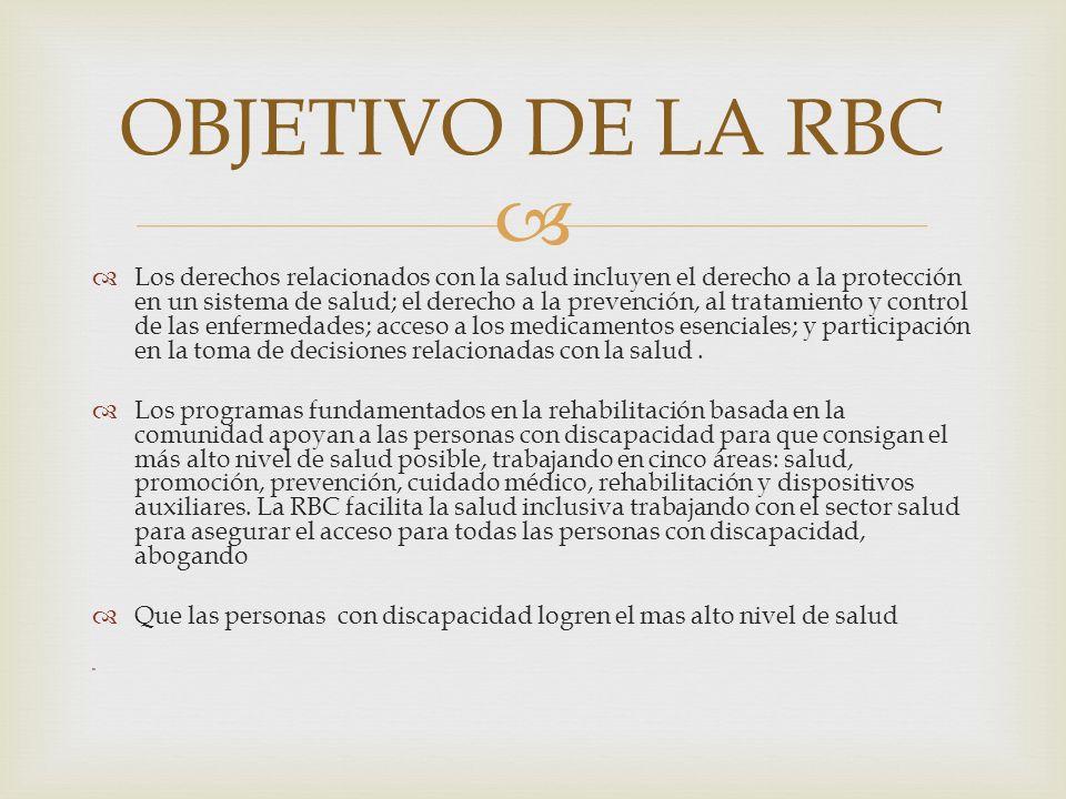 OBJETIVO DE LA RBC