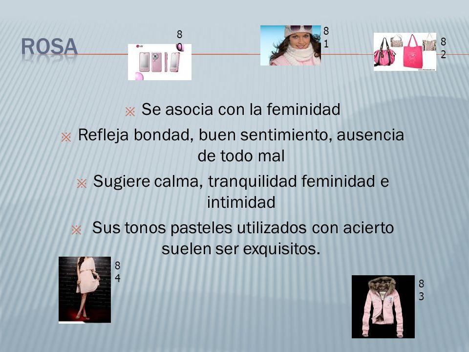 Rosa Se asocia con la feminidad