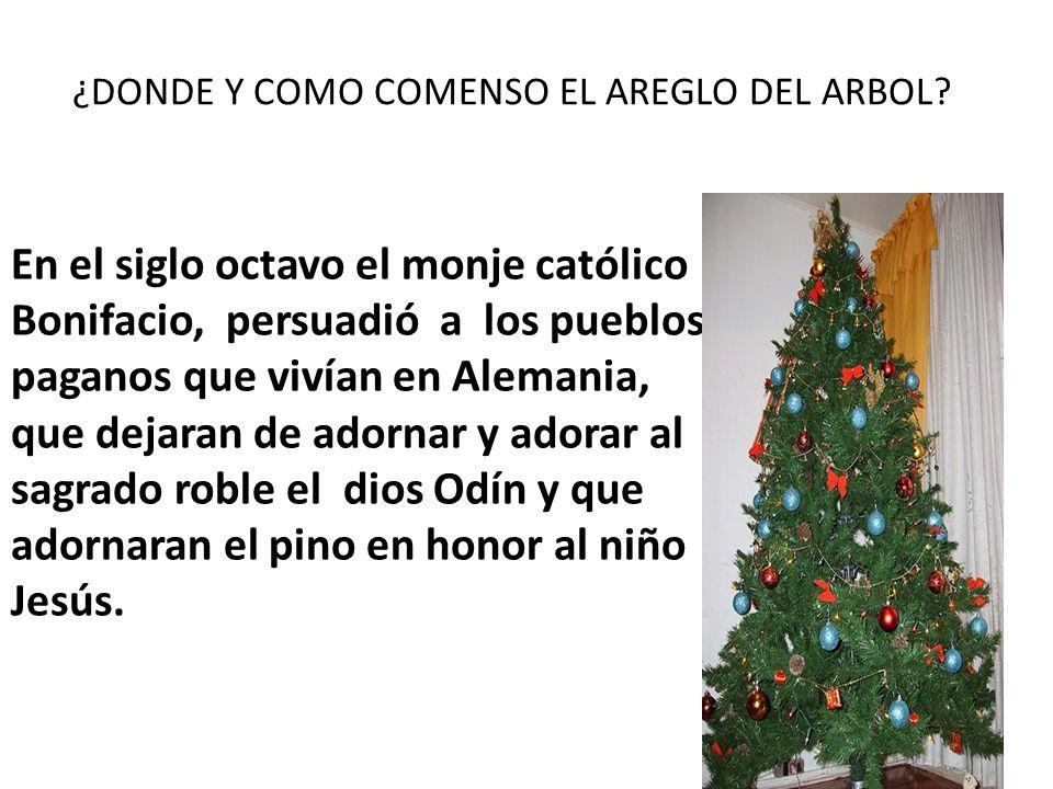 ¿DONDE Y COMO COMENSO EL AREGLO DEL ARBOL