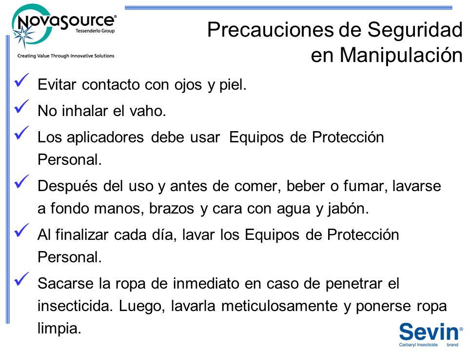 Precauciones de Seguridad en Manipulación
