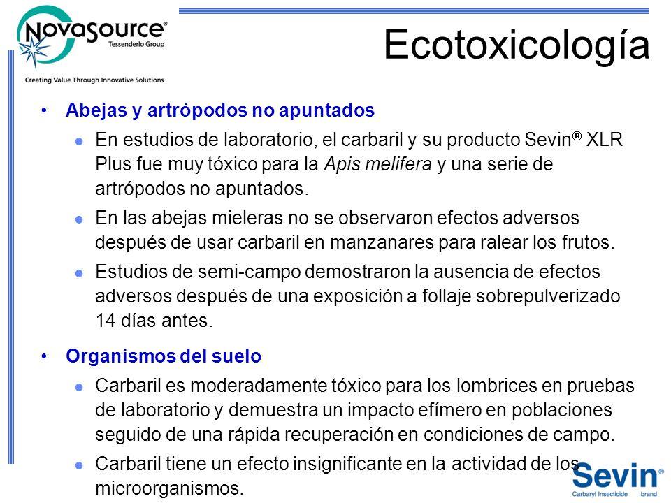 Ecotoxicología Abejas y artrópodos no apuntados