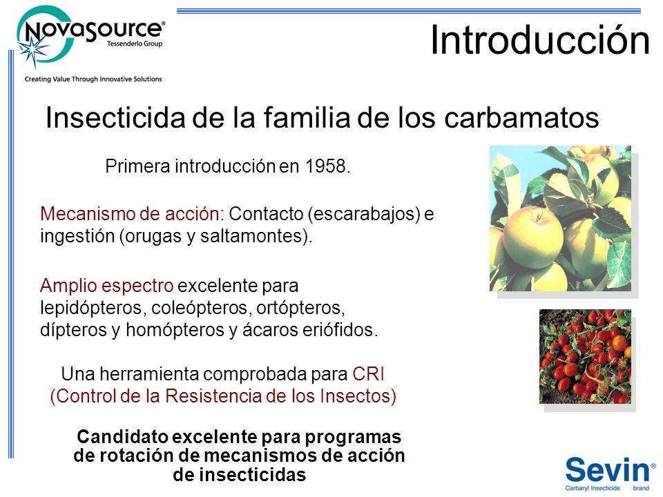 Introducción Insecticida de la familia de los carbamatos