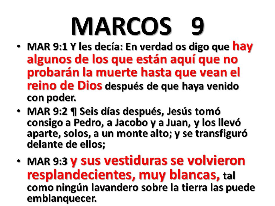 MARCOS 9