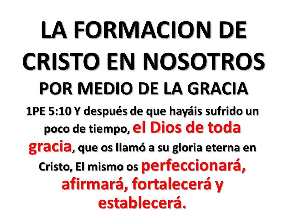 LA FORMACION DE CRISTO EN NOSOTROS POR MEDIO DE LA GRACIA