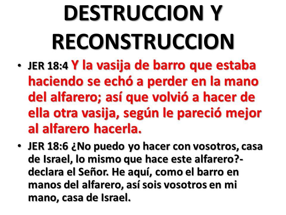 DESTRUCCION Y RECONSTRUCCION