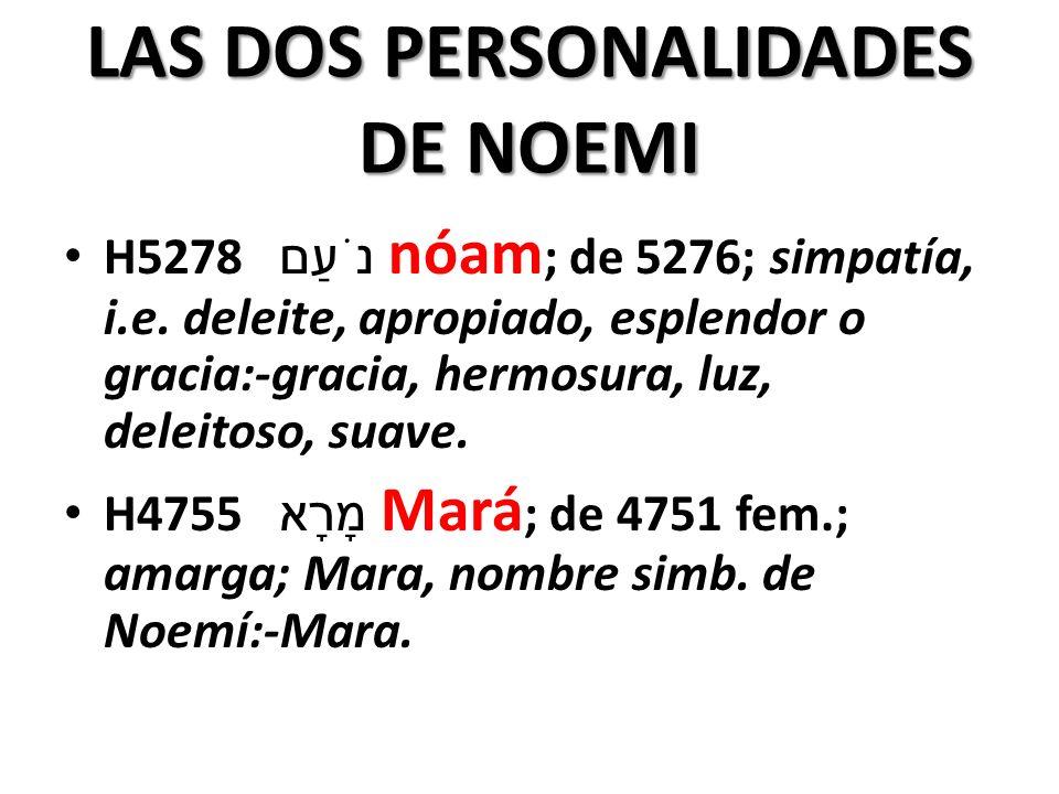 LAS DOS PERSONALIDADES DE NOEMI
