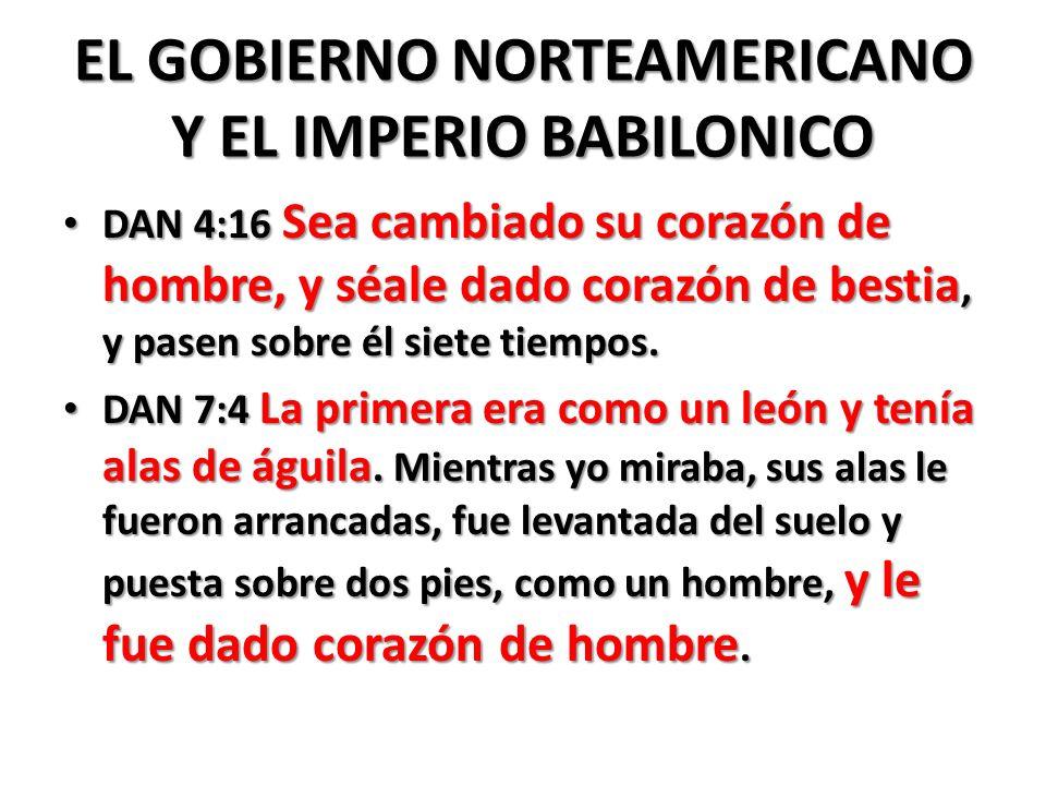 EL GOBIERNO NORTEAMERICANO Y EL IMPERIO BABILONICO