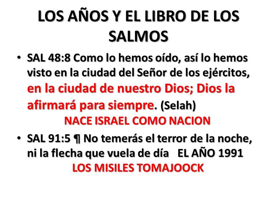 LOS AÑOS Y EL LIBRO DE LOS SALMOS