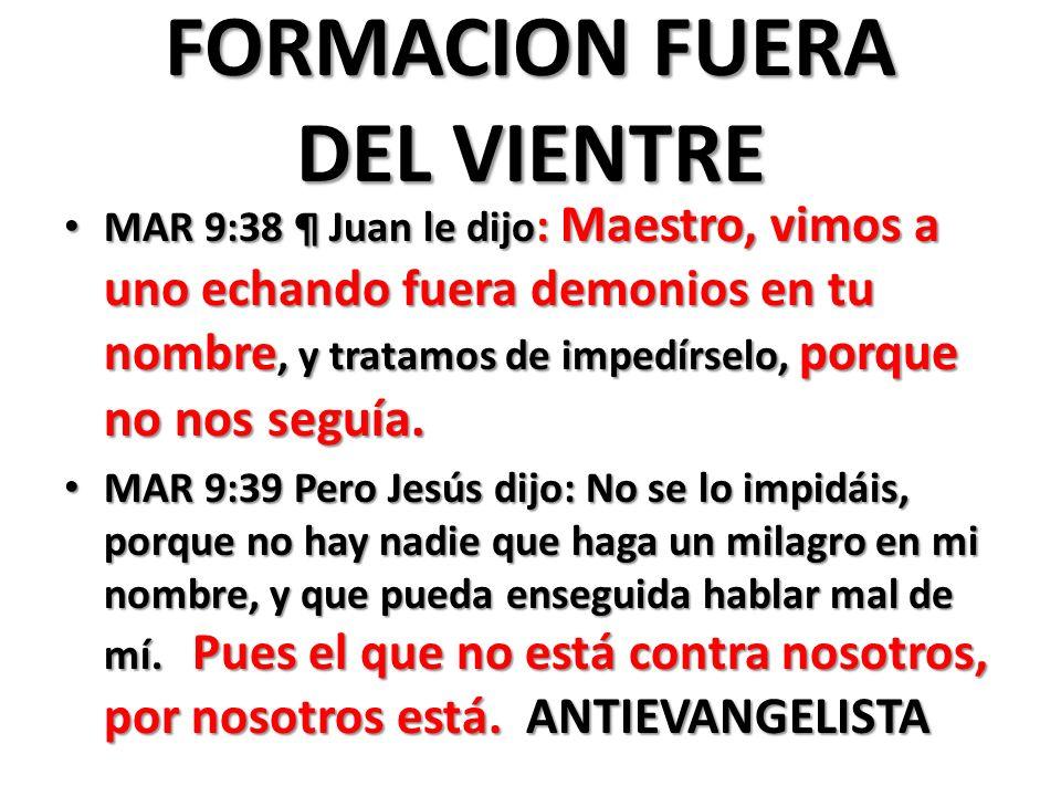 FORMACION FUERA DEL VIENTRE