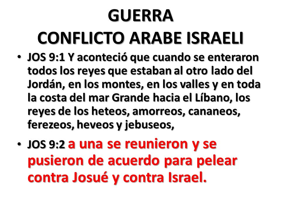 GUERRA CONFLICTO ARABE ISRAELI
