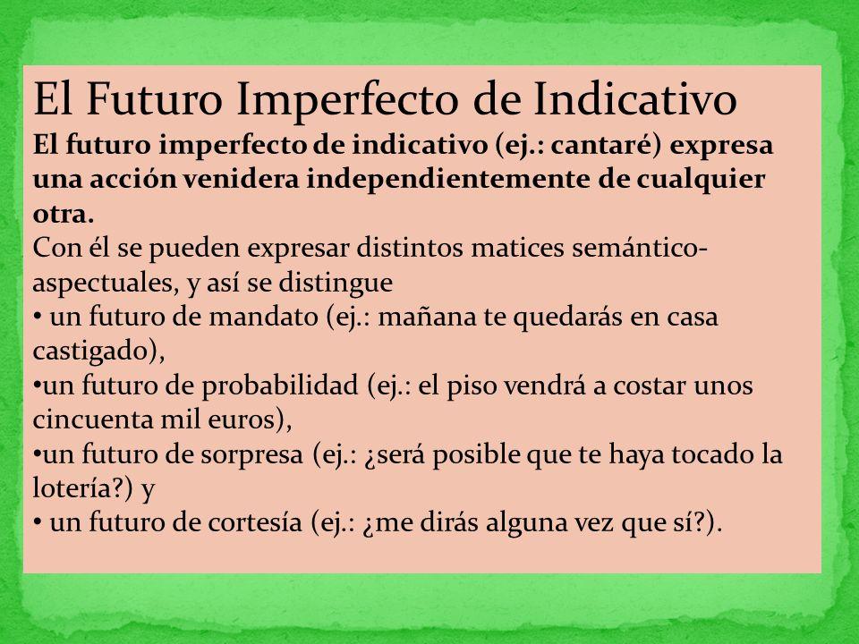 El Futuro Imperfecto de Indicativo