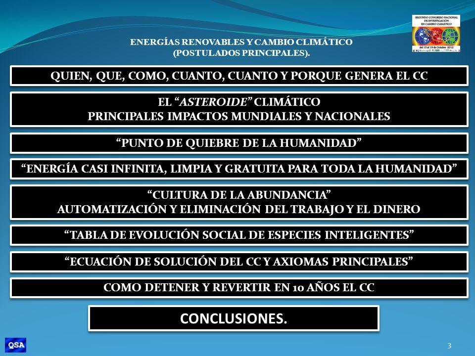 CONCLUSIONES. QUIEN, QUE, COMO, CUANTO, CUANTO Y PORQUE GENERA EL CC