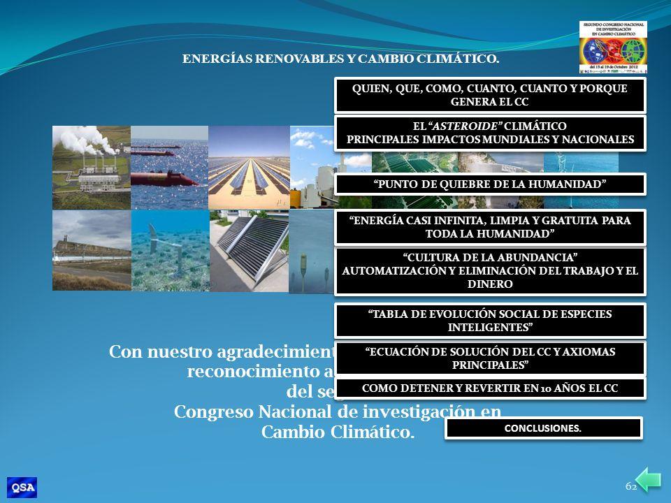 Congreso Nacional de investigación en Cambio Climático.