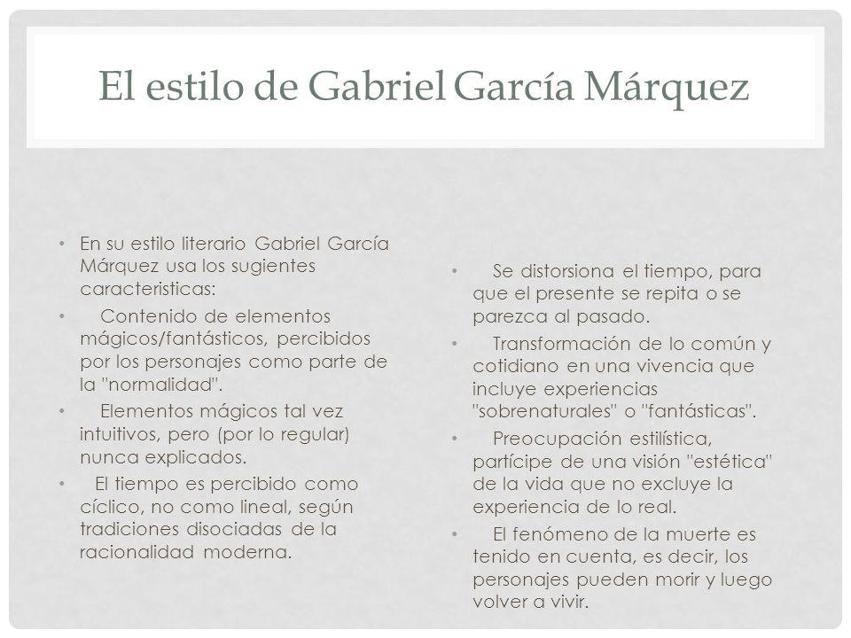 El estilo de Gabriel García Márquez