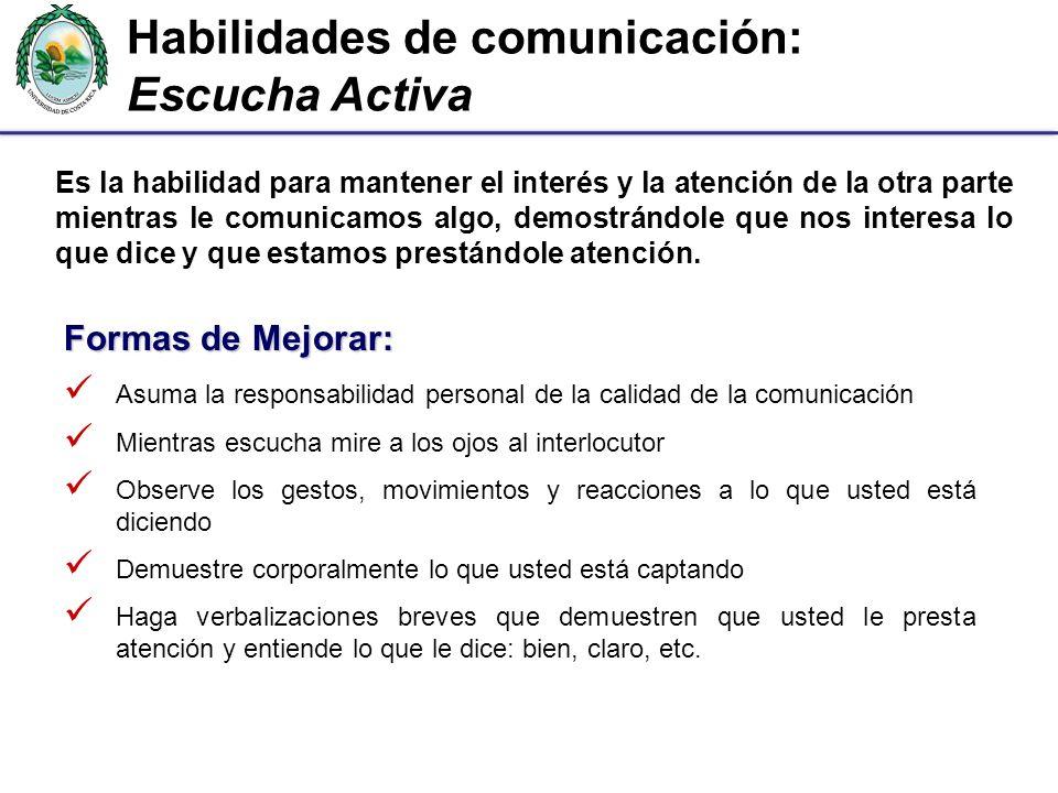 Habilidades de comunicación: Escucha Activa