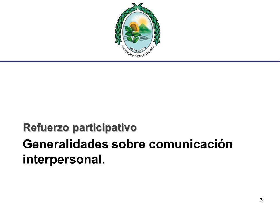 Generalidades sobre comunicación interpersonal.