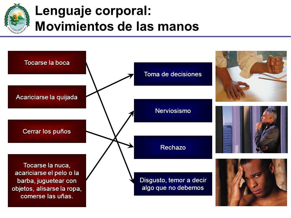 Lenguaje corporal: Movimientos de las manos