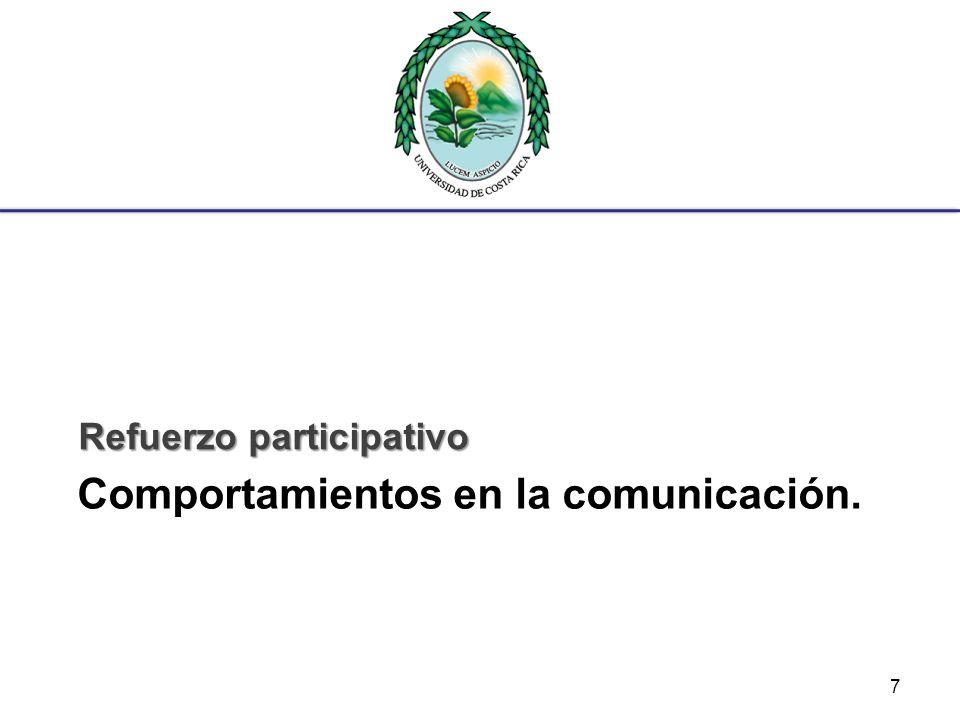 Comportamientos en la comunicación.