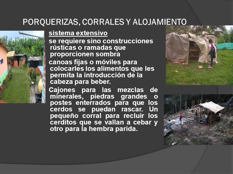PORQUERIZAS, CORRALES Y ALOJAMIENTO