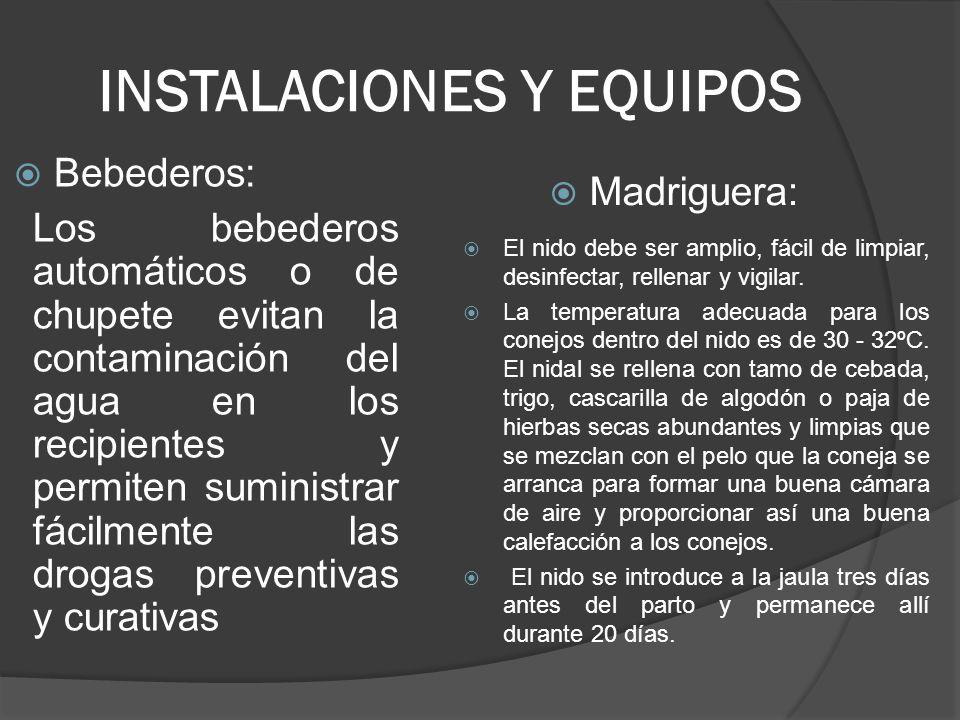INSTALACIONES Y EQUIPOS