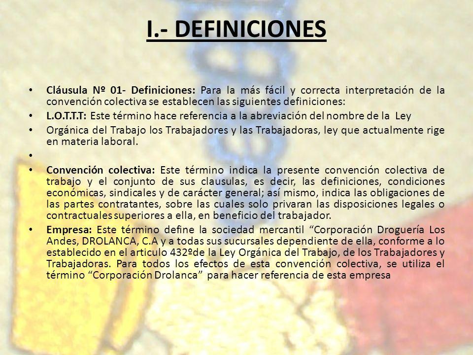 I.- DEFINICIONES
