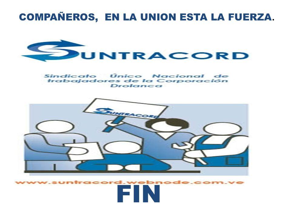 COMPAÑEROS, EN LA UNION ESTA LA FUERZA.