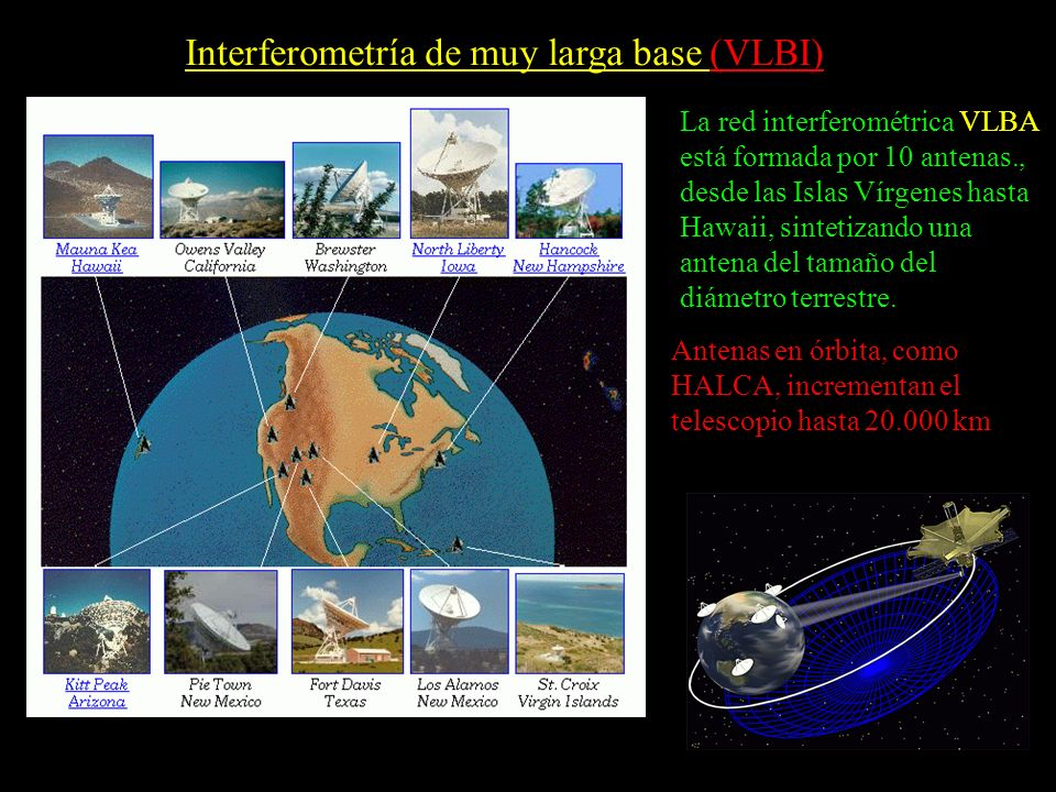 Interferometría de muy larga base (VLBI)