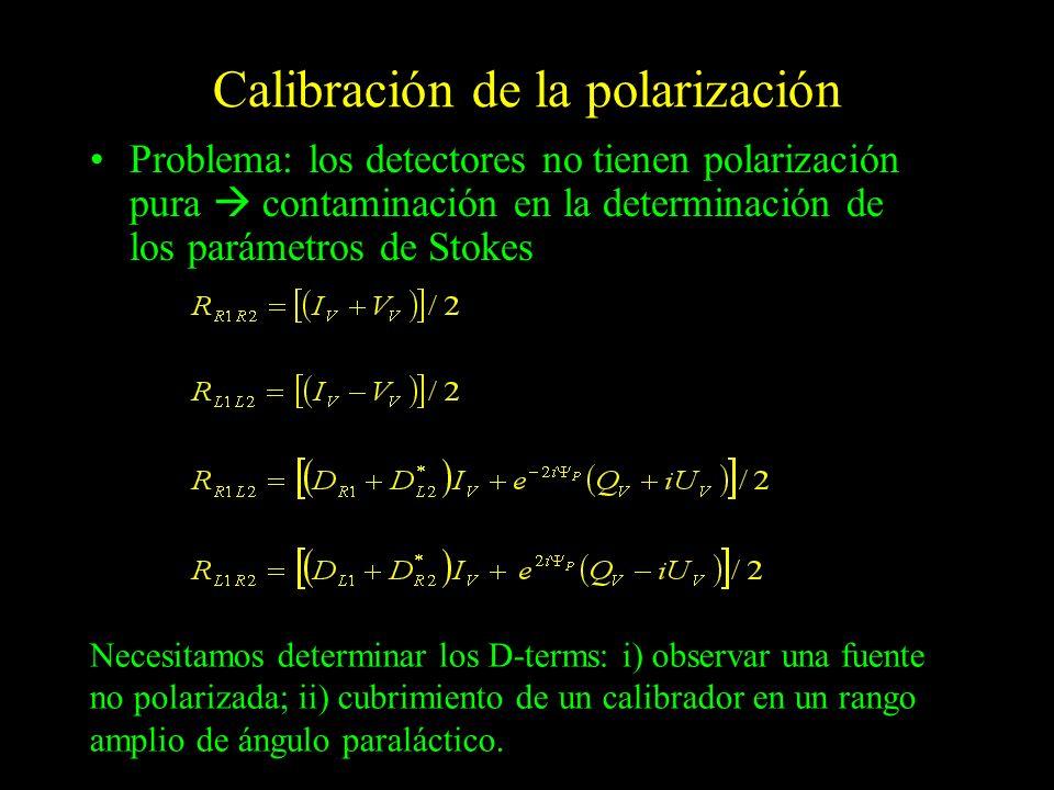 Calibración de la polarización