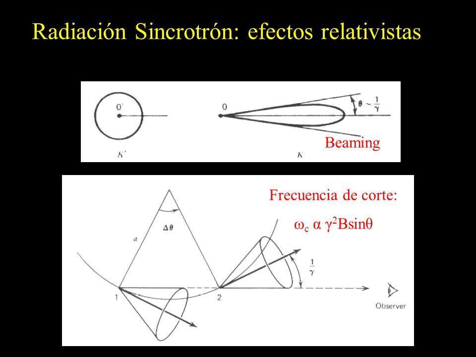Radiación Sincrotrón: efectos relativistas