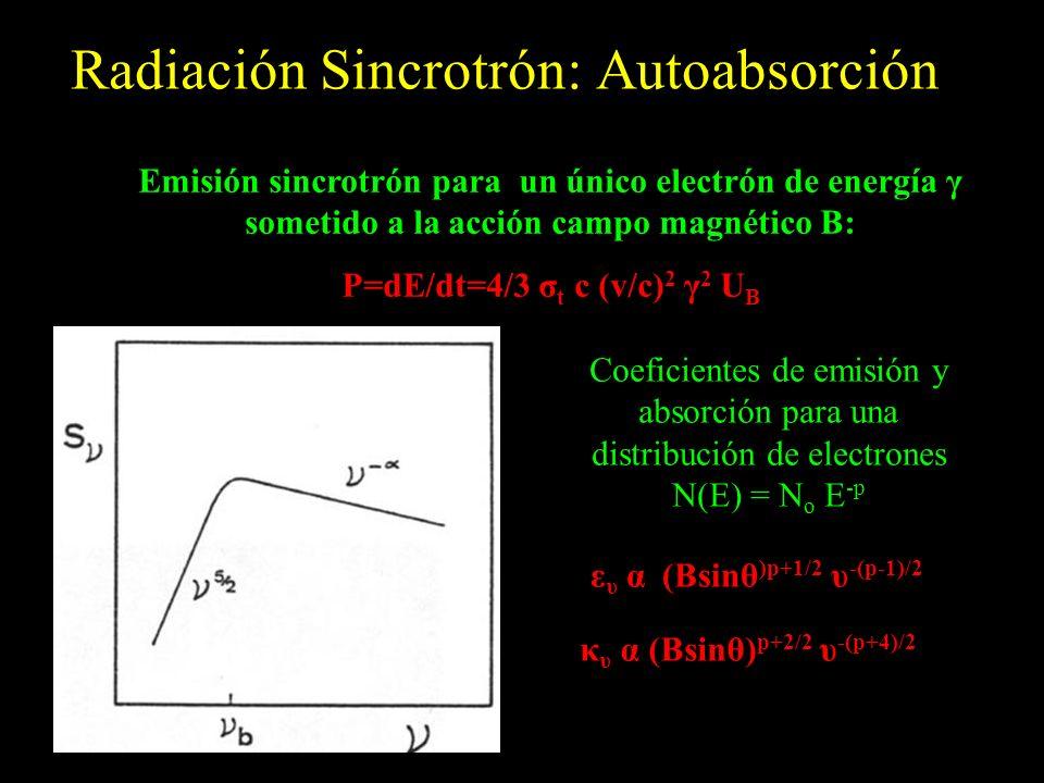 Radiación Sincrotrón: Autoabsorción