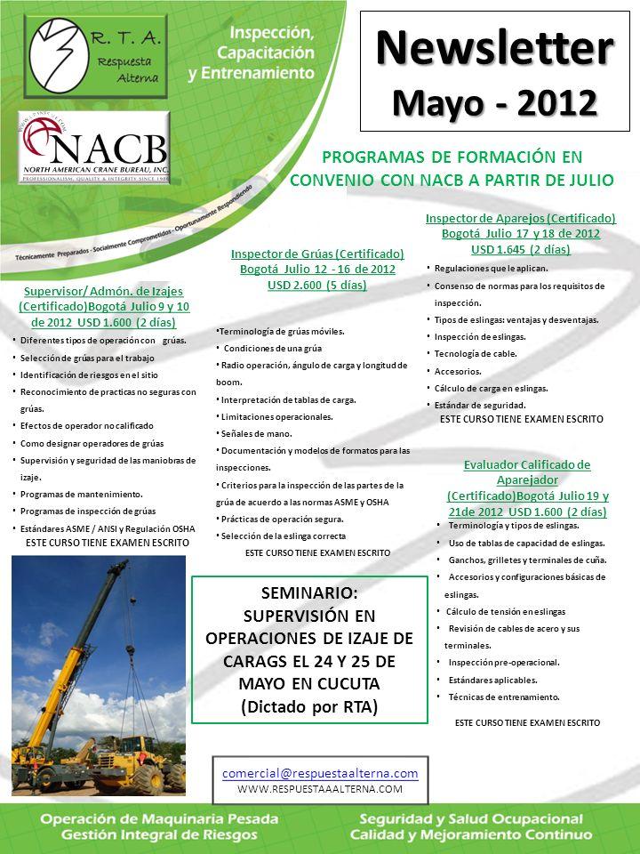 PROGRAMAS DE FORMACIÓN EN CONVENIO CON NACB A PARTIR DE JULIO