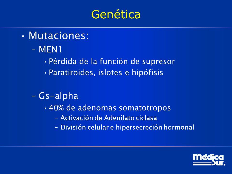 Genética Mutaciones: MEN1 Gs-alpha Pérdida de la función de supresor