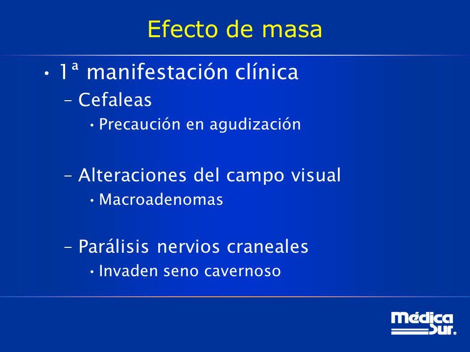 Efecto de masa 1ª manifestación clínica Cefaleas