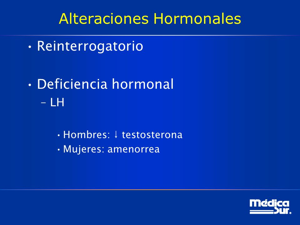 Alteraciones Hormonales