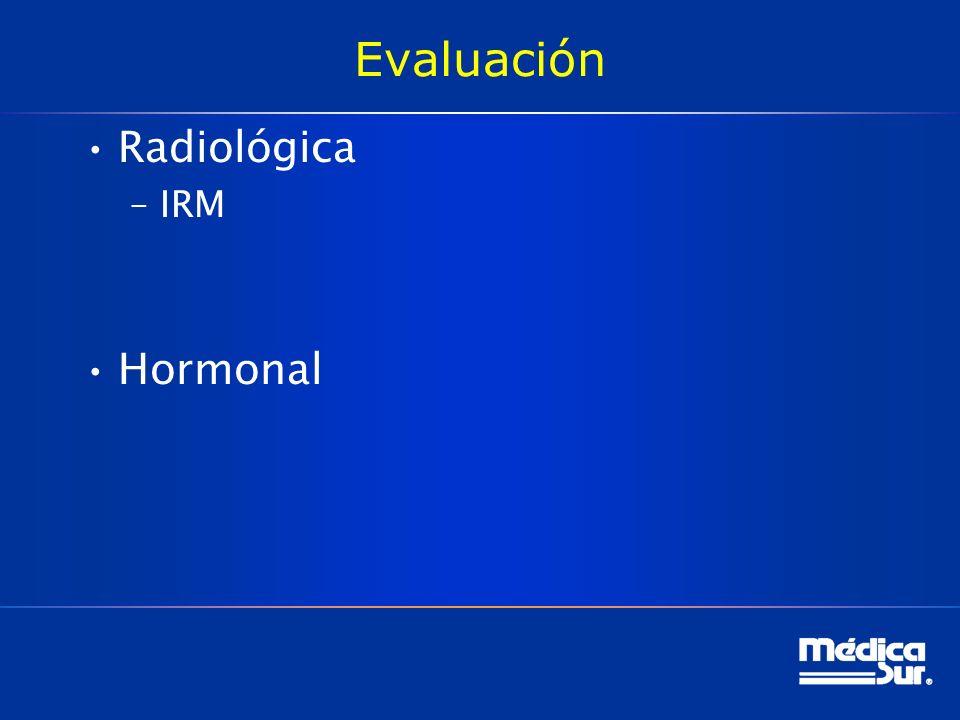 Evaluación Radiológica IRM Hormonal