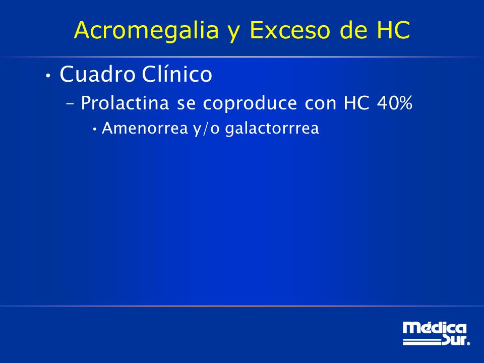 Acromegalia y Exceso de HC